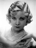 Una Merkel on a Lace Top and Hands Holding and Leaning Portrait Photo by  Movie Star News