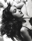 Dorothy Lamour Lying in Black and White Photo by  Movie Star News