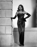 Rita Hayworth Leaning in Black Gown Photo by Robert Coburn