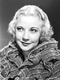 Una Merkel on a Ruffled Top and smiling Portrait Photo by  Movie Star News