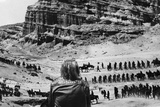 Planet Of The Apes Scene of Humans Attack on Apes Excerpt from Film Portrait in Black and White Photo by  Movie Star News