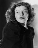 Portrait of Katharine Hepburn wearing Fur Coat Photo by E Bachrach