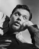 Orson Welles Lying in Black and White Photo by E Bachrach