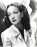 Dorothy Lamour Portrait in Black and White with Coat Photo by  Movie Star News