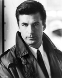 Alec Baldwin Looking at the Camera wearing a Black Jacket Portrait in Black and White Photo by  Movie Star News