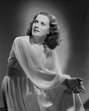 Maureen O'Hara Posed in Dress Black and White Photo by E Bachrach