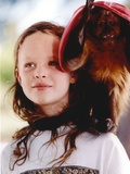 Thora Birch Posed with Bird Portrait Photo by  Movie Star News