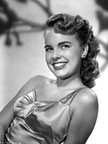 Terry Moore on a Silk Dress and smiling Portrait Photo by  Movie Star News
