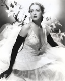 Dorothy Lamour in White Gown Photo by  Movie Star News