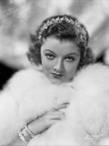 Myrna Loy Portrait in Feather Coat Photo by AL Schafer