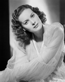 Maureen O'Hara in White Dress Portrait Photo by E Bachrach