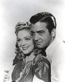 Alice Faye on an Embroidered Top and posed with Man Photo by  Movie Star News