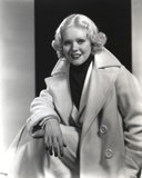 Alice Faye on Coat Portrait Photo by  Movie Star News