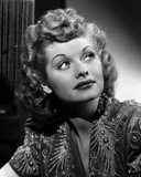 Lucille Ball Looking Up in Blouse Portrait Photo by Gaston Longet