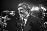 Robert Redford smiling in Suit in Press Conference Photo by Howard Bingham