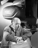 Hitchcock Alfred posed in Black and White Photo by Bud Fraker