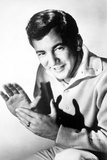 Bobby Darin Clapping wearing Polo in Black and White Portrait Photo by  Movie Star News