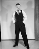 Orson Welles standing Posed in Black and White Photo by E Bachrach