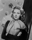 Judy Garland arms folded with scarf and leaves behind her ... Photo by CS Bull