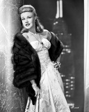Ginger Rogers Posed in White Gown Black and White Photo by Gaston Longet