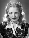 Virginia Patton Smirking in Embroidered Top Dress Photo by  Movie Star News