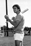 William Devane standing in Shirt With Baseball Bat Photo by  Movie Star News