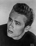 James Dean Portrait in Black Velvet Round Neck Long Sleeve Shirt Photo by Floyd Mccarty