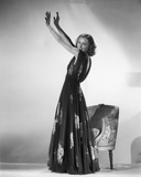 Barbara Stanwyck standing Pose in a Dress Classic Portrait Photo by E Bachrach