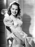 Terry Moore on an Embroidered and Leaning Portrait Photo by  Movie Star News