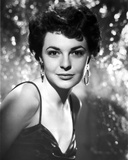 Anne Bancroft posed in Silk Dress with Hook Earrings in Classic Portrait Photo by  Movie Star News