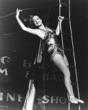 Dorothy Lamour Climbing Rope Ladder in Classic Photo by  Movie Star News