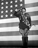 George Scott Saluting in Military Dress With American Flag Photo by  Movie Star News