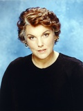 Tyne Daly in Black Sweater Skyblue Background Portrait Photo by  Movie Star News