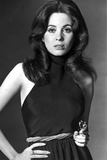 Barbara Parkins Pose wearing in Black Top Photo af Movie Star News