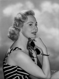 Virginia Mayo Posed in Striped Dress Photo by  Movie Star News