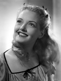 Virginia Patton on a Printed and Puff Sleeve Top Photo by  Movie Star News
