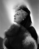 Claire Trevor Looking Away in Fur Coat and Hat Photo by  Movie Star News
