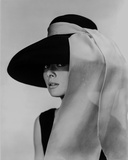 Movie Star News - Audrey Hepburn Breakfast at Tiffany's Portrait Photo