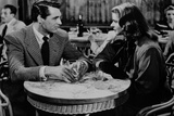 Notorious Couple Talking Scene in Black and White Photo by  Movie Star News
