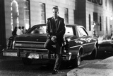 Mickey Rourke Leaning in Car With Black and White Background Photo by  Movie Star News