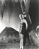 Dorothy Lamour Leaning in Black and White Photo by  Movie Star News