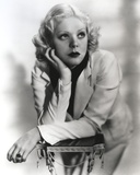 Alice Faye Leaning on a Stand Facing Left Photo by  Movie Star News