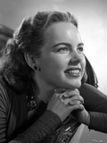 Terry Moore smiling and Looking Away Portrait Photo by  Movie Star News