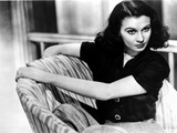 Vivien Leigh Seated on Chair in Blouse Photo by  Movie Star News