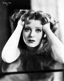 Clara Bow Head Leaning on Hand Close Up Classic Portrait Photo by Max Munn Autrey