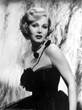 Zsa Zsa Gabor Posed in Strapless Black Dress Photo by  Movie Star News