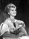 Zsa Zsa Gabor Looking Away in Strapless Corset with Glossy Coat Photo by  Movie Star News