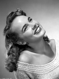 Terry Moore Looking Up and smiling Portrait Photo by  Movie Star News