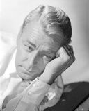 Alan Ladd Thinking Very Hard in Close Up Portrait Photo by  Movie Star News