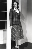 Loretta Young Lady Checkered Suits Photo by  Movie Star News